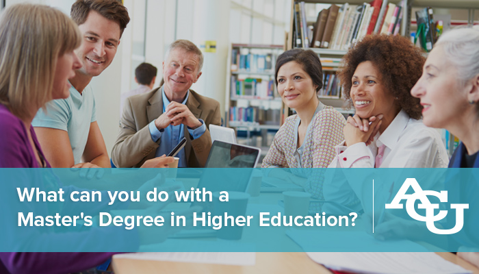 Master's Degree in Higher Education