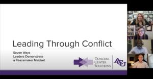Leading Through Conflict Webinar