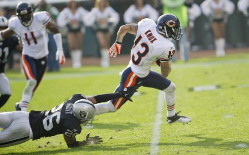 Johnny Knox is working to regain his health after a serious injury in 2012 (Photo by Bill Smith).