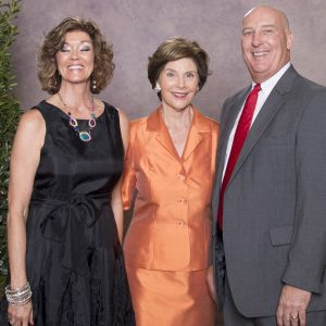 Debbie (Faulkner '77) Clinton, First Lady Laura Bush and Randy Clinton ('77)
