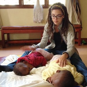 Caroline Nikolaus interned in Africa at Neema House Baby Home.