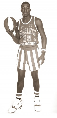 Former Wildcat James Joseph was a Globetrotter in 1990-91.