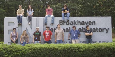 Dr. Rusty Towell supervises students each summer who work with him at Brookhaven National Laboratory on Long Island in New York.