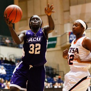 Sophomore forward Lizzy Dimba scored 11 points and pulled down eight rebounds in a Nov. 19 loss at Texas-San Antonio.