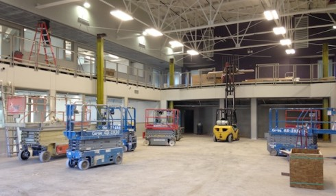 Interior work continues on the Engineering and Physics Labs at Bennett Gym