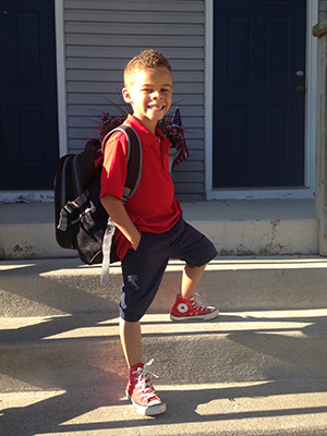 Nathan's first day of kindergarten