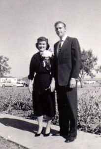 Carolyn (Kelley '58) and David Mickey ('58), Homecoming 1956.