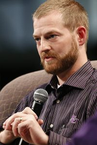 Brantly spoke at ACU in October 2014.