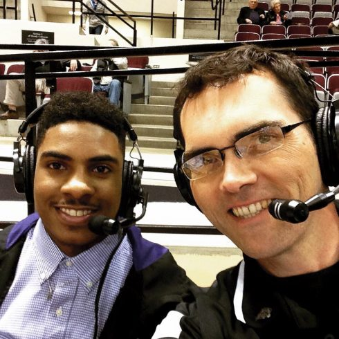 Calling women's hoops with Isaiah Tripp, freshman from Baltimore, Md., and a student-athlete on the men's basketball team.