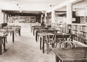 A circa 1940s look at the library housed in Chambers.