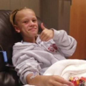 Maya Sanders, age 11, is fighting blood cancer.