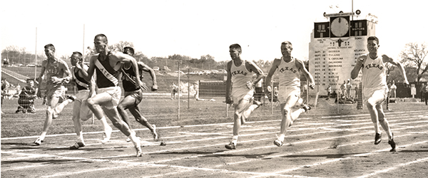 Morrow beats a Texas Relays field of sprinters from UT and __ in Austin in 1957.
