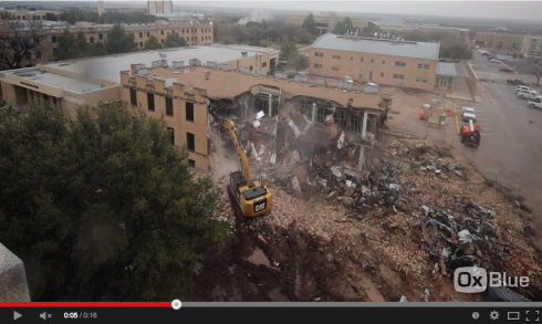 Time-lapse Demolition of Chambers Hall