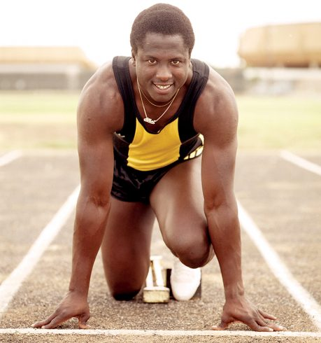 Albert Lawrence ('85), a standout sprinter for the Wildcats, won an Olympic silver medal while competing for his native Jamaica.
