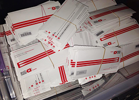 Swab kits await the more than 500 donor applicants from among students, faculty and staff at ACU.
