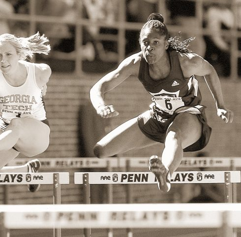 Delloreen Ennis ('99) was a three-time Olympian 100-meter hurdler for Jamaica who finished fourth in the Olympic Games in Sydney, Australia.
