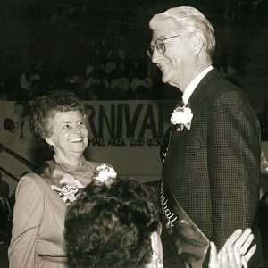 Ruby Guy and Harold Lipford were chosen grand marshals of the 2003 Homecoming parade.
