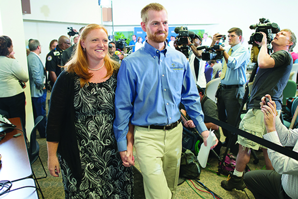 From the day Kent Brantly, M.D., was released in August 2014 from Emory University Hospital until today, he and Amber have been given an extraordinary platform on which to talk about their faith and their experiences with Ebola. (Photo courtesy David Morrison / Samaritan's Purse)