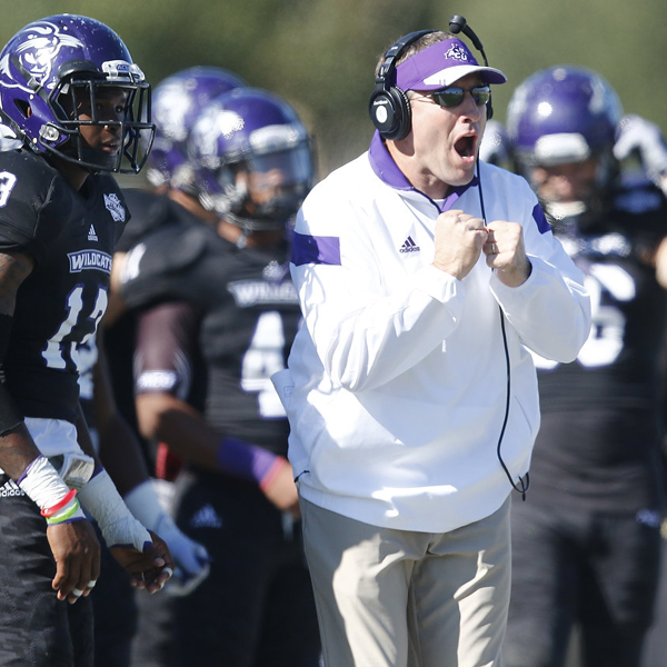 Collums' team upset Central Arkansas last fall at a neutral-site game in Plano, Texas.