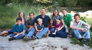 Dr. Jeff and Amy McKissick with their children (from left) Micah, 8; Ginny, 14; Tyler, 10; Josiah, 2; Julia, 3; Claire, 1; Joshua, 12; and Ryan, 16.