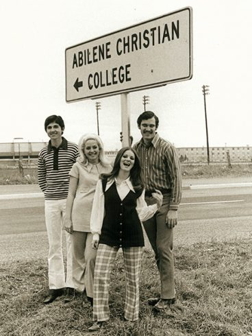 Sing Song 1971 hosts and hostesses: (from left) Philip Burton, Margaret Clayton, Jody Martin and Dennis Beaver