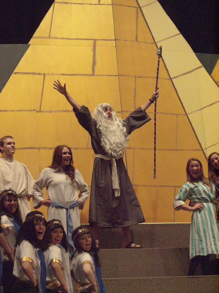 Moses and the Israelites starred in the 2012 performance of the junior class.