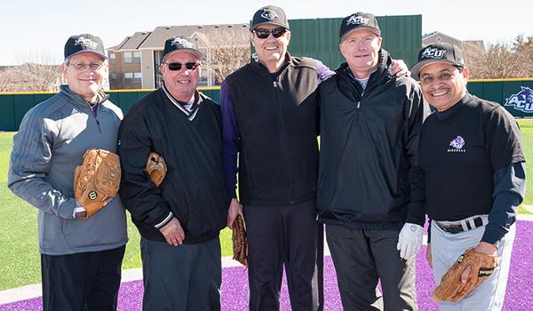 Ron Hadfield ('79), Brian Burton ('79), Tim Johnston ('80), Judd White ('82) and Victor Garcia ('79)