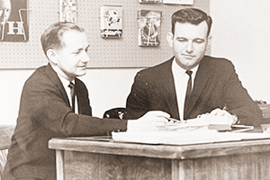 Hunter and William Johnson helped lead the Alumni Office in the 1950s.