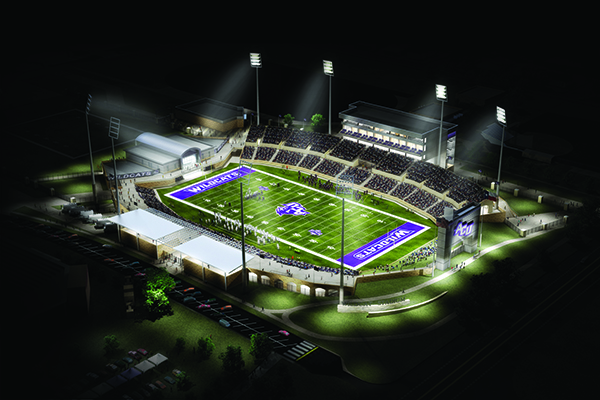 Wildcat Stadium, seen in a recent architectural rendering, will host its first game during the 2017 season.