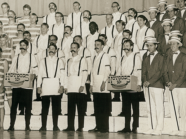 """Men's club Knights performed """"Coney Island Baby"""" at Sing Song 1968."""