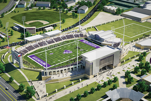 Wildcat Stadium will seat up to 12,000 fans for games on Anthony Field.