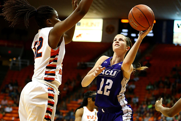 Whitney West Swinford scored 12 points against UTEP.