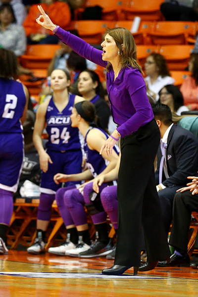 ACU head coach Julie Goodenough signed a four-year contract extension before the WNIT game.