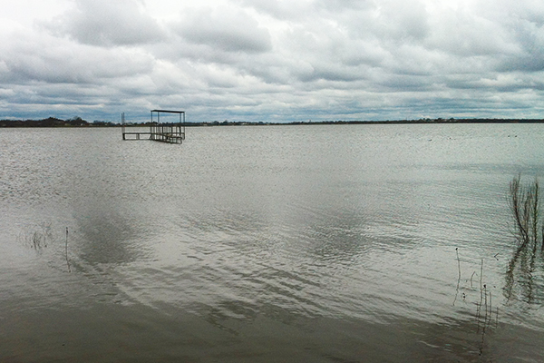 Fort Phantom Hill Reservoir north of Abilene has risen more than 17 feet in the past year.