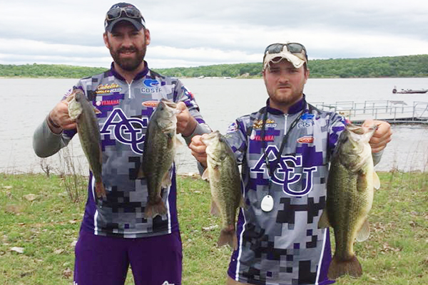 Blake Harruff and Tanner Sanderson's top four fish from Fort Gibson Lake.