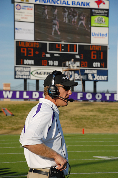A standout tight end for ACU, Chris Thomsen late became head coach of the Wildcats' most dominating offenses in school history.