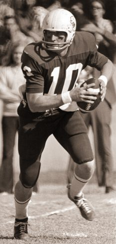 Lindsey was college football's all-time passing leader when his career ended.