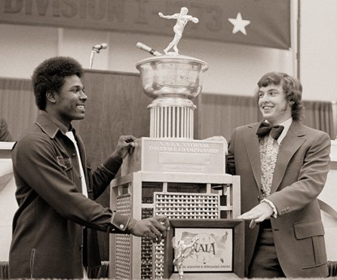 Wilbert Montgomery and Clint Longley helped the Wildcats win the 1973 NAIA Division I national championship.