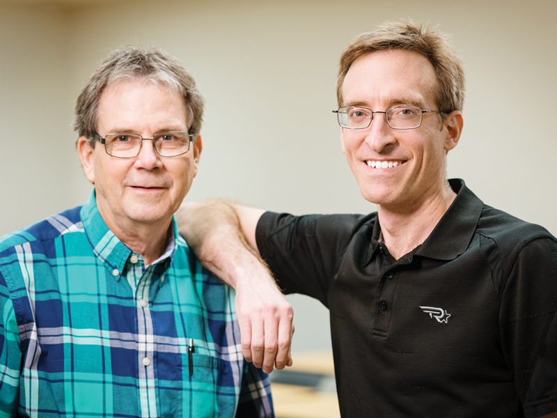 Dr. Jim Nichols, left, and Dr. Vic McCracken