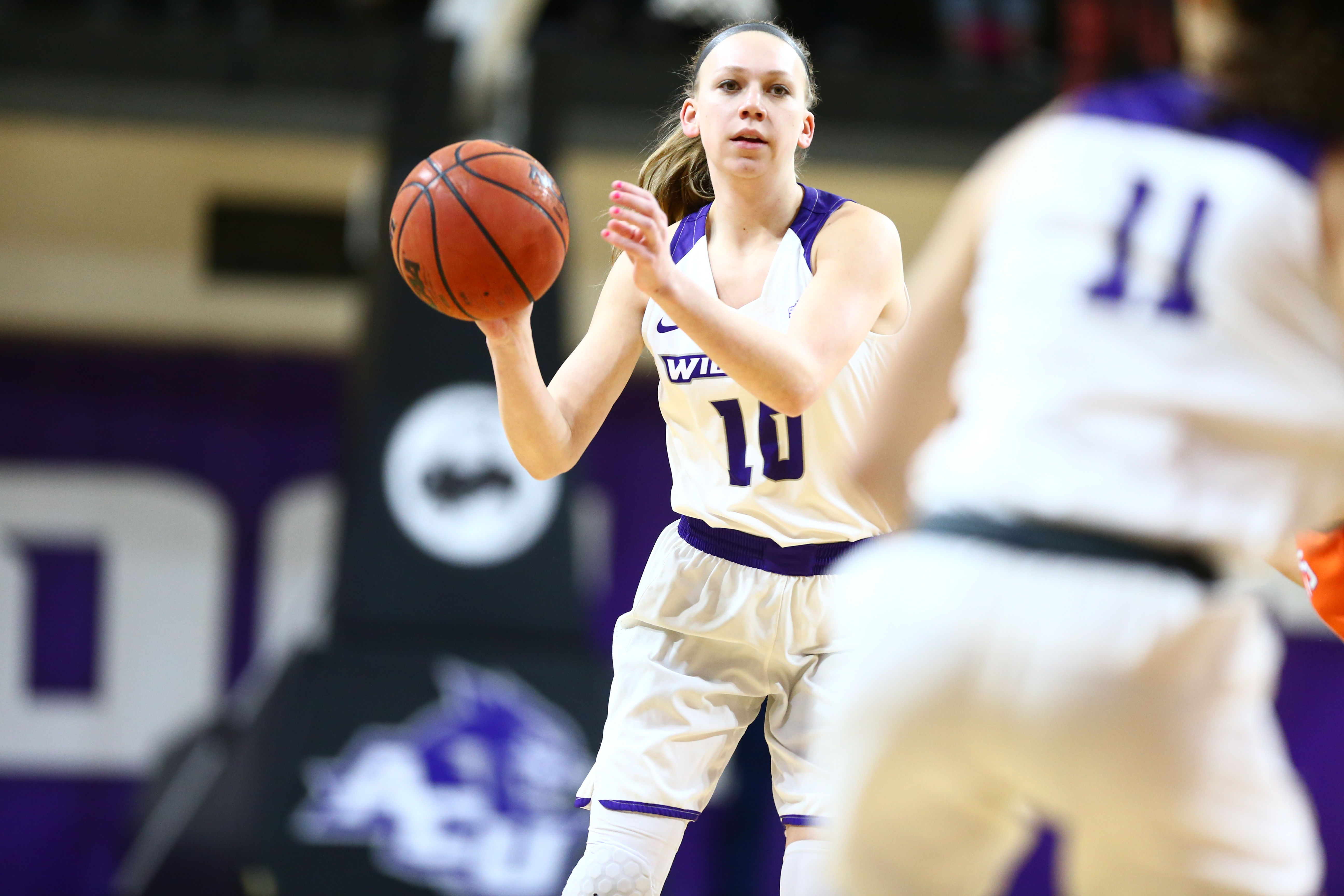 Junior guard Breanna Wright spearheads the ACU women's offense.