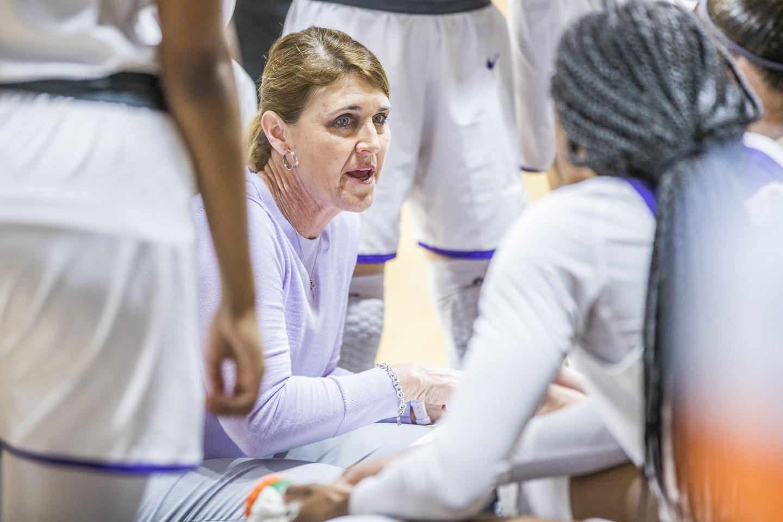 ACU women's basketball head coach Julie Goodenough