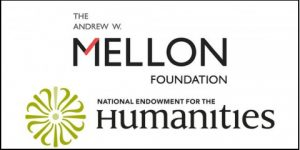 Logos for the Mellon Foundation and the NEH