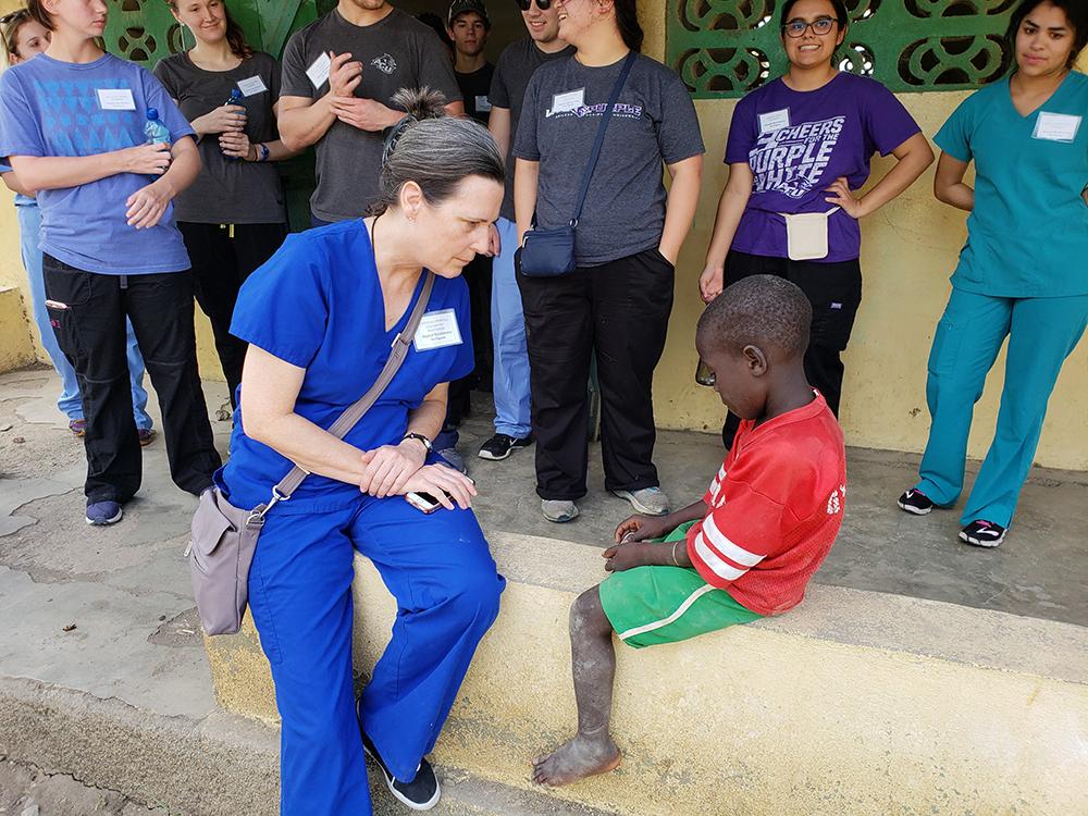 Cynthia Powell in Haiti