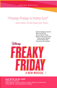 Spring musical comedy will feature Disney's 'Freaky Friday'