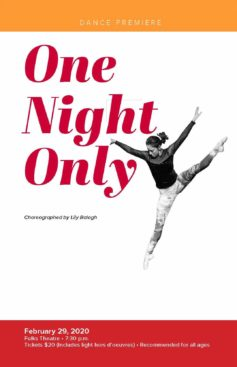 'One Night Only' dance premiere set for Feb. 29
