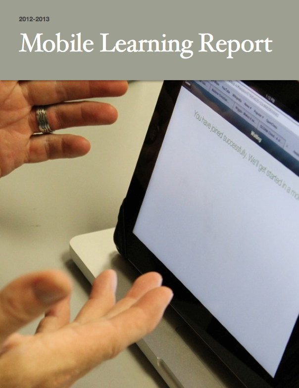 2012-2013 Mobile Learning Report Cover