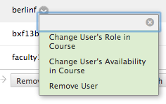 User availability in course