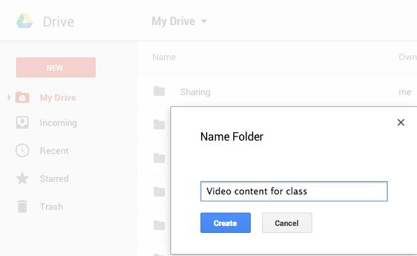 1. Create folder