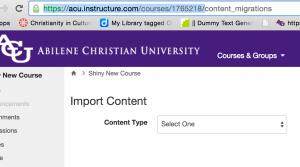Find course URL