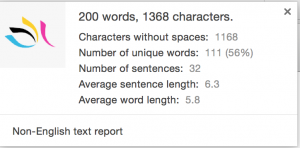 Word Count information